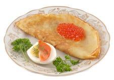 开胃菜鱼子酱俄语 库存照片