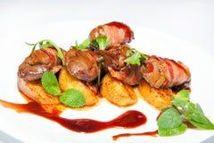 开胃菜,沙拉,第一和第二条路线,汤 图库摄影