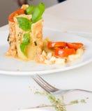 开胃菜-乳酪滚动用肉和菜 免版税库存图片