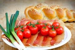 开胃菜-在桌上的健康膳食 免版税库存照片