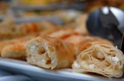 开胃菜(自助餐、开胃菜,食物)乳酪饼 库存图片