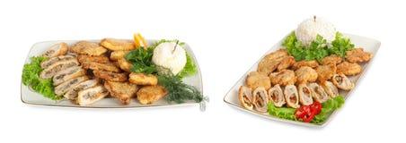 开胃菜莴苣肉胡椒 库存照片