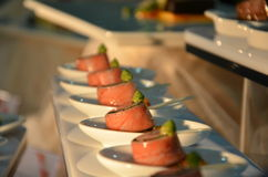 开胃菜-顶面美食术 免版税图库摄影