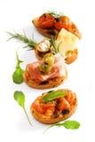 开胃菜bruschette意大利传统 免版税图库摄影
