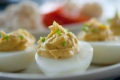 开胃菜deviled鸡蛋 免版税图库摄影