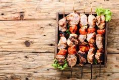开胃菜kebab,烤肉 图库摄影