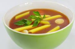 开胃蕃茄汤 免版税库存照片