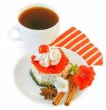 开胃蛋糕咖啡杯 图库摄影