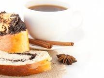 开胃蛋糕咖啡杯 库存照片