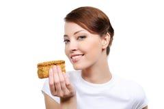 开胃蛋糕妇女 免版税库存图片