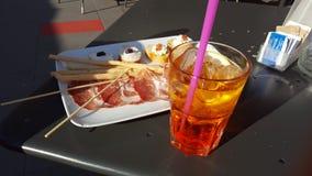 开胃酒在意大利 免版税库存照片