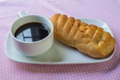 开胃面包和咖啡 免版税库存照片