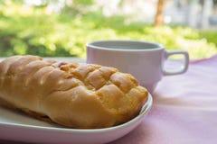 开胃面包和咖啡 免版税库存图片