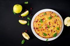 开胃饼用苹果和蔓越桔 图库摄影