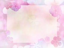 开花与水彩纸t拷贝空间的抽象背景  库存图片