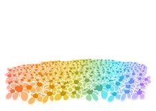 开花五颜六色的域 库存图片