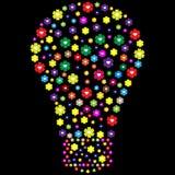 开花做的电灯泡 库存图片
