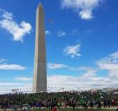 开花在全国购物中心的风筝节日在华盛顿特区, 免版税图库摄影