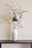 开花在空白花瓶 库存图片