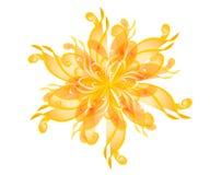 开花小束花的金子 向量例证