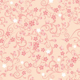 开花无缝樱桃的模式 库存照片