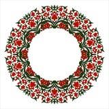 开花框架,与地方的夏天花圈题字的在mi 免版税图库摄影