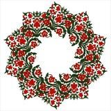 开花框架,与地方的夏天花圈题字的在mi 免版税库存图片