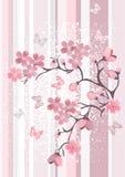 开花樱桃日语 向量例证