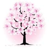 开花樱桃树 库存例证