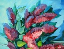 开花的丁香的花束,例证 向量例证