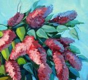开花的丁香的花束 向量例证