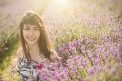 开花的淡紫色花  库存图片