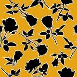 开花的玫瑰无缝的样式 也corel凹道例证向量 皇族释放例证