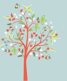 开花的结构树 库存照片