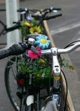 开花的自行车 图库摄影