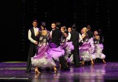 开花的紫罗兰以色列民间舞蹈这奥地利的世界舞蹈 图库摄影