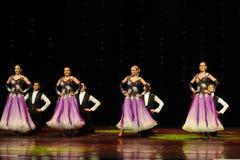 开花的紫罗兰以色列民间舞蹈这奥地利的世界舞蹈 免版税库存图片