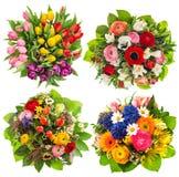 开花花束花卉装饰复活节生日婚礼母亲 免版税库存照片