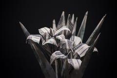 开花origami钞票 免版税库存图片