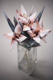 开花origami钞票 免版税库存照片