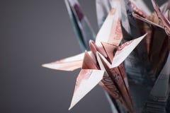 开花origami钞票 图库摄影
