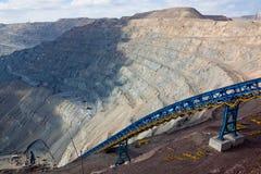 开采的露天开采矿 免版税库存图片