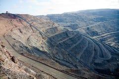开采的露天开采矿 免版税库存照片
