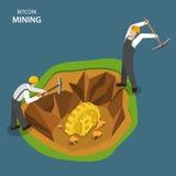 开采等量平的传染媒介概念的Bitcoin 向量例证