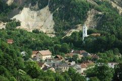 开采蒙大拿罗马尼亚rosia城镇 图库摄影