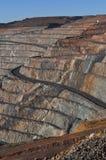 开采超级坑Kalgoorlie巨石城的金矿 免版税库存图片