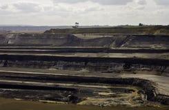 开采露天开采矿的褐煤 免版税图库摄影
