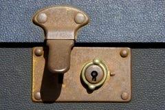 开锁的手提箱 库存图片