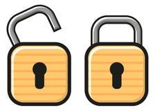 开锁的锁定 免版税库存照片