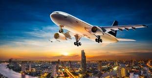 离开飞机 免版税图库摄影